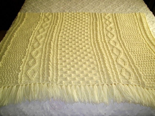 Fishman Afghan - 46 inches wide and 60 inches long
