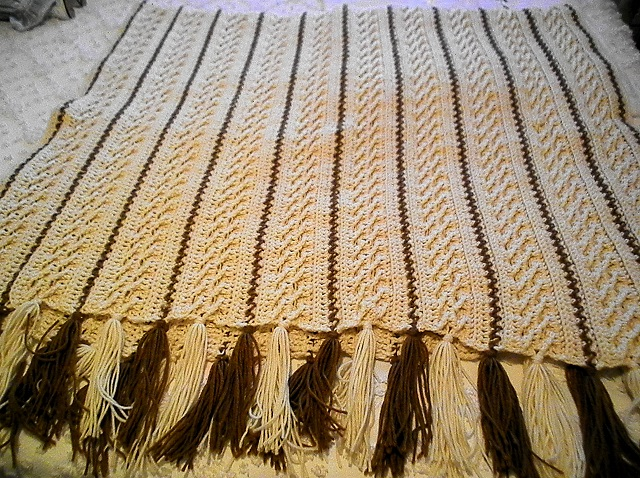 Cable Afghan