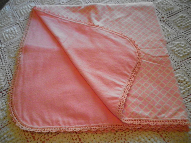 Pink Chevron Flannel Blanket