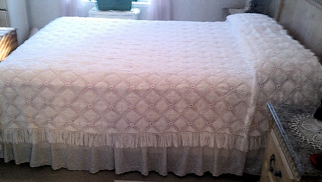 Queen Size Crocheted Bedspread