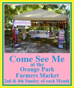 Please Come Vist Me at the Keystone Heights Farmers Market - Every Saturday from 9am - 1pm