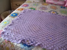 Lavender Crocheted