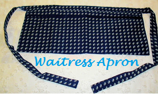 Blue & White Waitress Apron