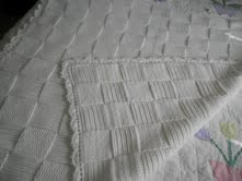 White Basket Weave Blanket