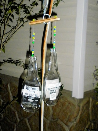 Wind Chime with 2 Corona Bottles