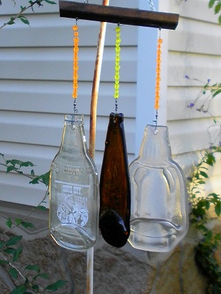 Wind Chime from Slumped Bottles