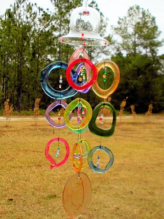 Dome Wind Chime - With Colored Rings
