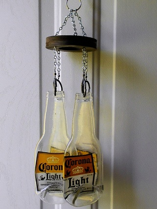 Corona Light Bottles - Glass Wind Chimes