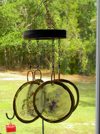 Rings of Flowers - Glass Wind Chimes