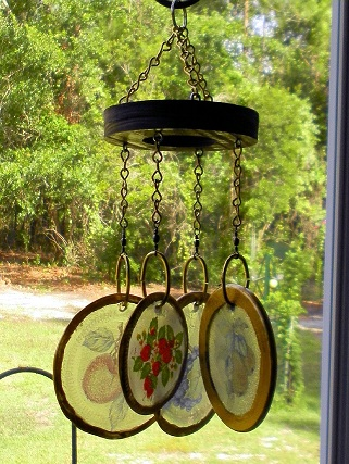 Rings of Fruit - Glass Wind Chimes