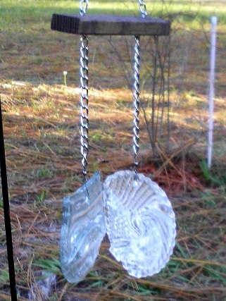 2 Clear Bottle Wind Chime