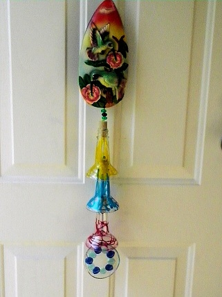 Painted Beer Bottle Necks - Glass Wind Chimes