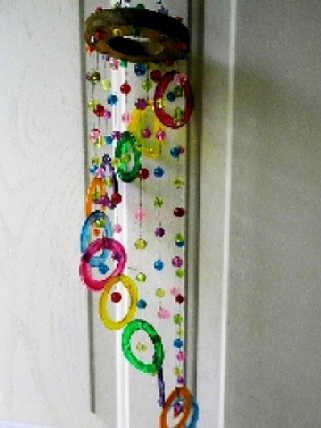 Life Saver Spiral - Glass Wind Chimes