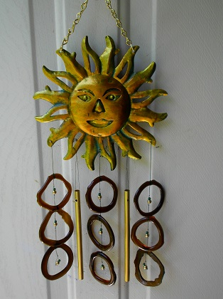 Sun with Brown Rings - Glass Wind Chimes